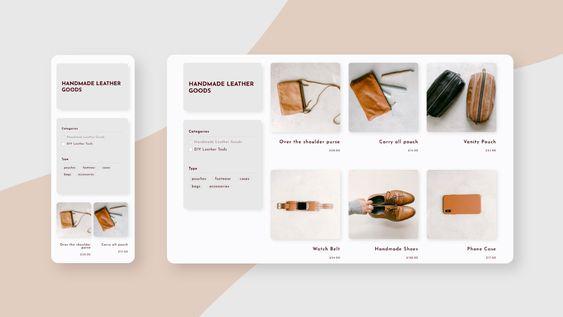 Product Categories E-Commerce Website Design