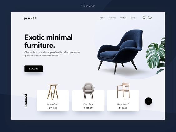 Small Furniture Business Website Design